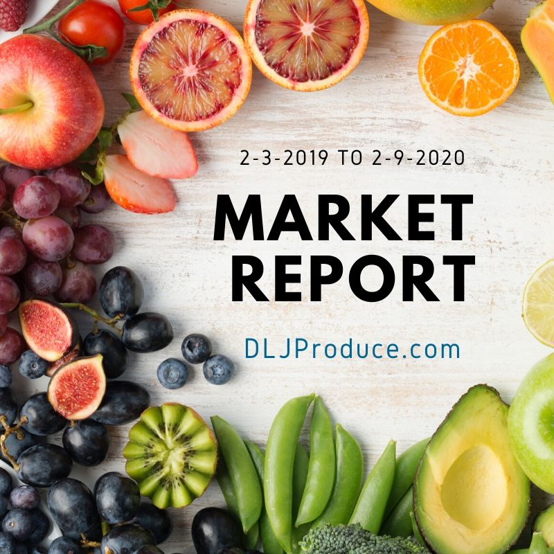 produce market report by dlj produce for february 2020